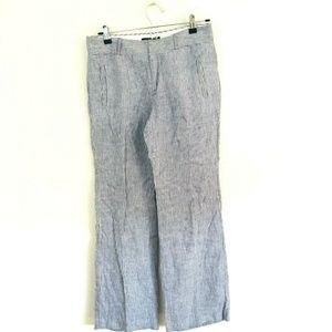 Banana Republic Linen Stripe Martin Trouser Pants